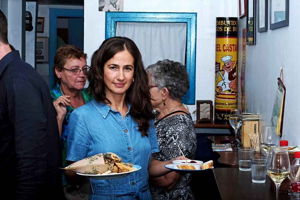 Lorea, the co-owner of The Barcelona Taste, presents some dishes a Barcelona food tour