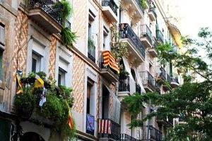 The Poble-Sec neighbourhood, beautiful buildings and architecture