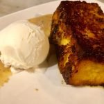 Torrijas (Bread Pudding) on a Barcelona tapas tour. Photo by Stacie White Brooks